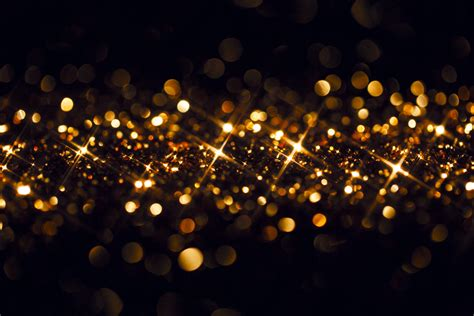 best 28 black and gold christmas lights defocused