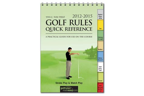 golf rules quick reference booklet  golf