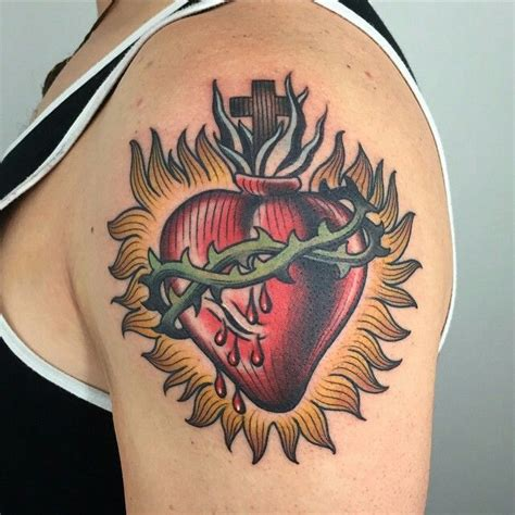 traditional heart tattoo designs 24 best sacred hearts images on sacred