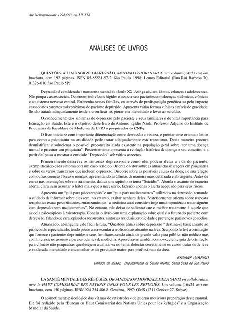 (PDF) Análises de livros