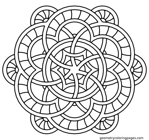 Geometric Mandala Coloring Pages Coloring Home Geometric Coloring Pages Free