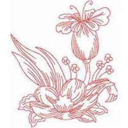 redwork oriental flora 1 embroidery design floral redwork embroidery designs machine embroidery