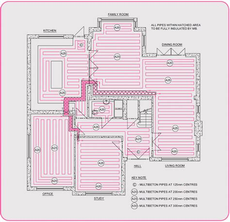 Layout For Underfloor Heating | underfloor heating design