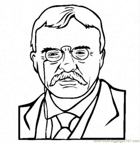 Theodore Roosevelt Coloring Page coloring pages theodore roosevelt coloring name peoples