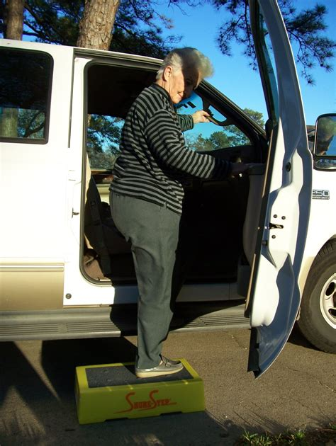 Step Stool For Getting Into Suv by Steps For Active Seniors Shure Step