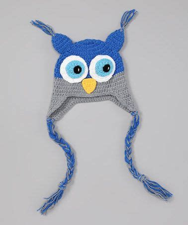 Bee And Vee Big 7 Owl take a look at this blue gray owl earflap