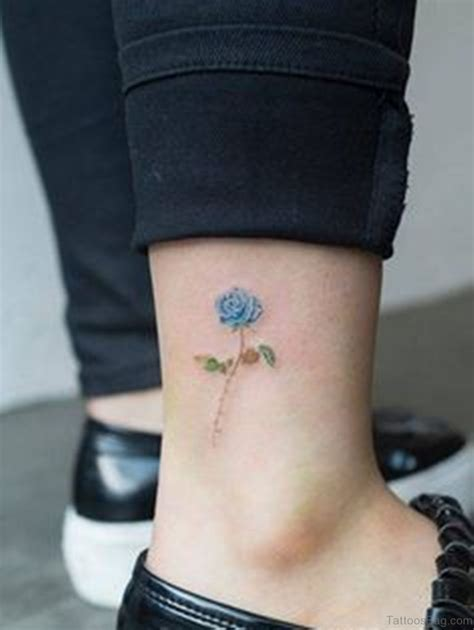 pretty rose tattoo 41good looking tattoos for ankle