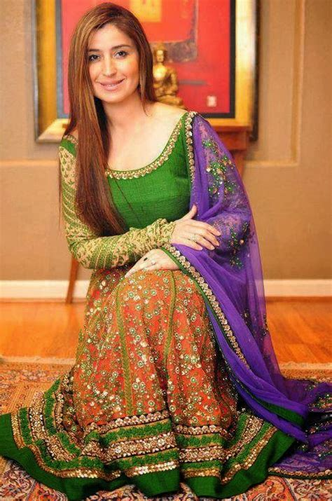 Asian Wedding Home Decorations by Exclusive Bridal Mehndi Dress Collection 2014 Mayoon Frills