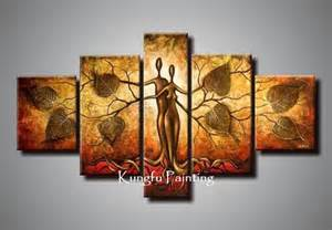 Living Room Wall Decor Sets 100 Hand Painted Discount Abstract 5 Panel Canvas Art