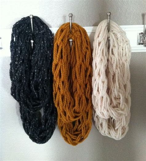 diy arm knitting infinity scarf arm knitted infinity scarf only 12 00 crochet