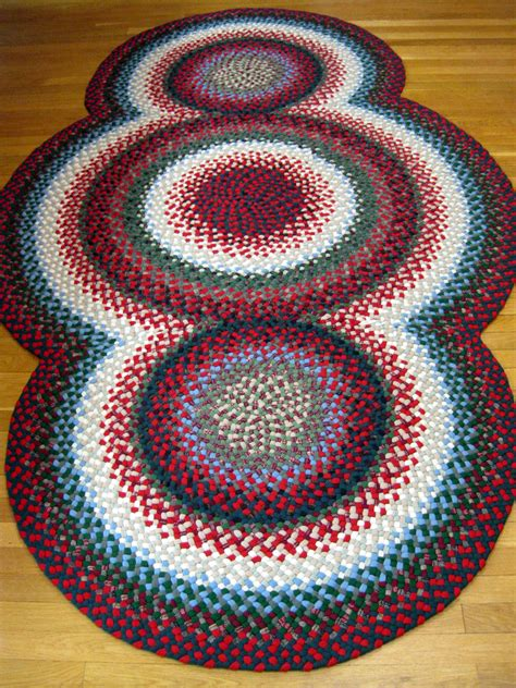 wool for rug braiding 5 1 quot x 8 7 quot 3 circle wool braided rug country braid house