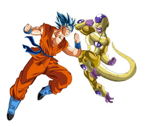 imagenes de goku vs frezer goku vs golden freezer by naironkr on deviantart