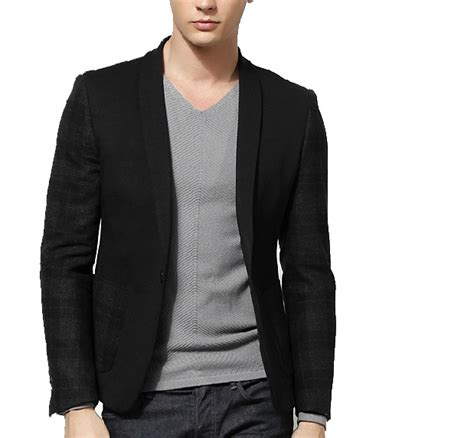 Blezer Black sophisticated mixed colors fashionable slim black blazer