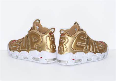 Nike Uptempo X Supreme Gold Premium supreme nike uptempo suptempo release date sneakernews