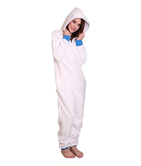 onesies for polar unfooted onesie white and warm funzee