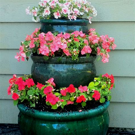 Stacked Planters by 25 Gorgeous Stacked Flower Pots Ideas On