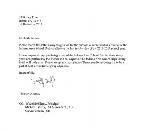 resignation letter template 9 free word excel