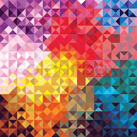 colorful vintage wallpaper retro seamless pattern of geometric shapes colorful