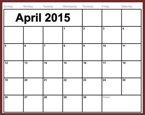 Calendar 2015 Printable April 16 2015 Word Calendar Template Images 2015 Monthly