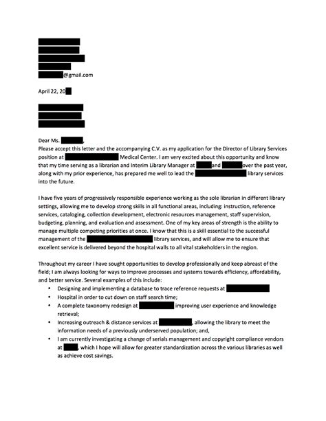 Anonymous Letter Service Uk Director Of Library Services Cover Letter Open Cover Letters