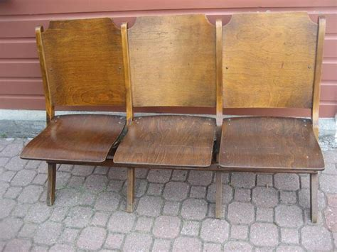 antique wooden church chairs vintage 3 seat wooden folding choir church chairs theater
