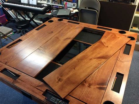 gaming table plans diy tabletop gaming table world building technabob