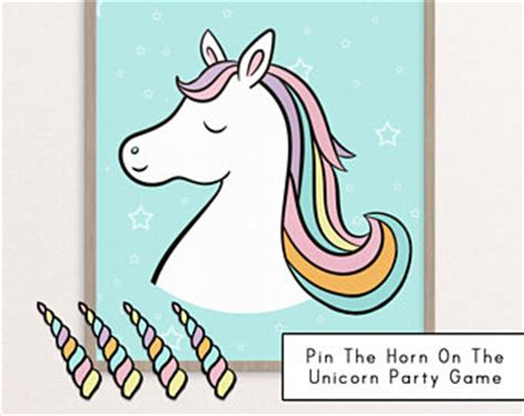 printable unicorn horn unicorn party invitations etsy