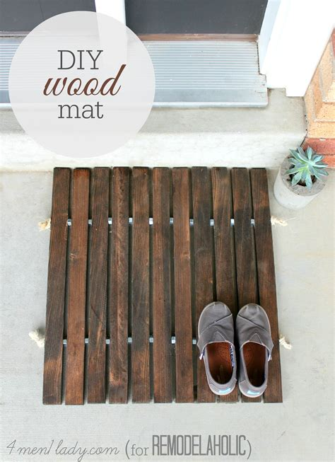 diy projects for guys diy wooden door mat decor hacks
