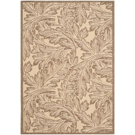 Safavieh Courtyard Natural Brown 4 Ft X 5 Ft 7 In 4 X 5 Outdoor Rug