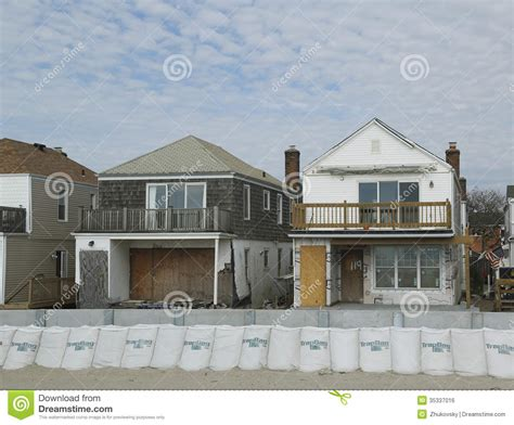 houses for sale in far rockaway damaged beach houses in devastated area one year after hurricane sandy editorial photo