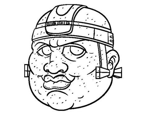 mayas imagenes dibujos dibujo de guerrero maya para colorear dibujos net