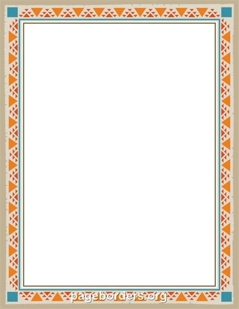 native american printable writing paper 17 best images about clipart borders on pinterest red