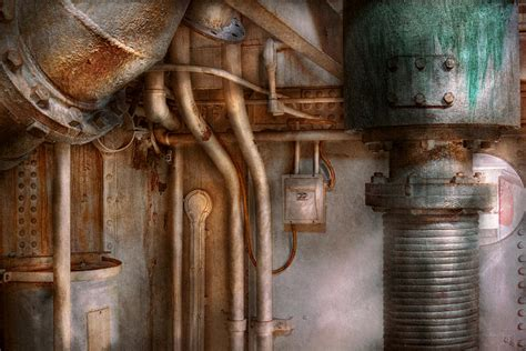Home Artwork Decor steampunk plumbing industrial abstract photograph by