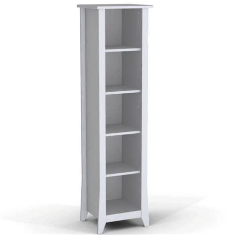 slim bookcase white 60 quot slim bookcase in white 200203