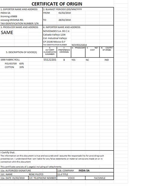 certificado de origen mexico newhairstylesformen2014com maritza certificado de origen