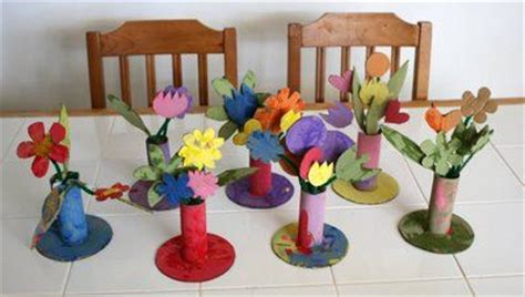 Cardboard Flower Vases by Cardboard Flowers For Vase Glue Toilet Roll To A