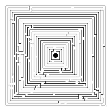 kostenlose malvorlage raetselbilder irrgarten quader