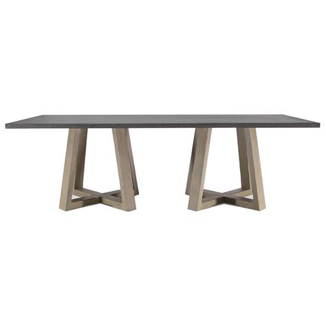 Rustic White Dining Table by Bekah Industrial Rustic White Oak Cement Dining Table