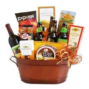 Enjoy the gift of wine beer and delicious snack foods delivered in