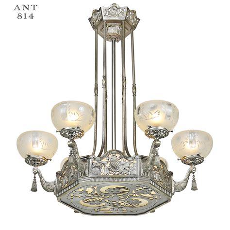 deco chandelier nouveau or deco chandelier antique ceiling