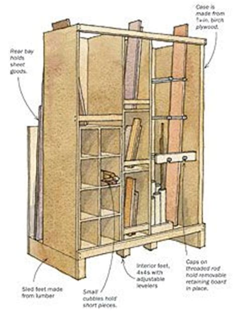 vertical lumber storage rack plans woodworking projects