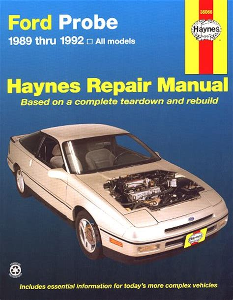 free service manuals online 1996 ford probe electronic valve timing ford probe repair service manual 1989 1992 haynes 36066