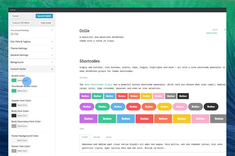 theme item list grille responsive wordpress portfolio blog theme by