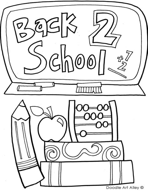 Back To School Coloring Pages Classroom Doodles Back To School Coloring Pages For Preschool