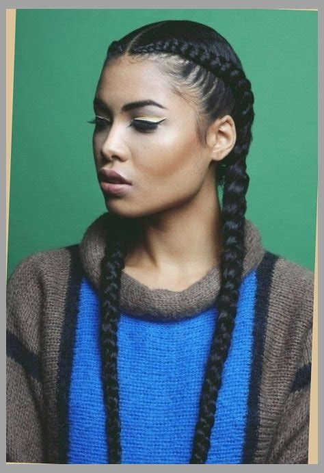 images of 2 indian braid hairstyles for black women two long cornrows super quick protective style