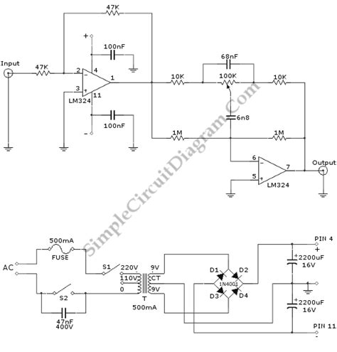 turbo bass booster simple circuit diagram