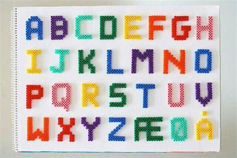 hama bead letter templates letras hama