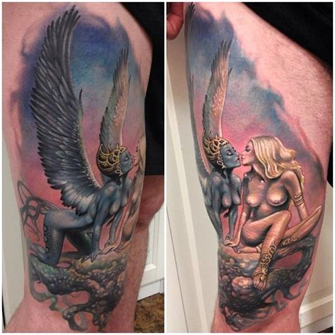 incredible ink tattoo original artwork by boris vallejo quot siren song quot by