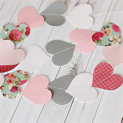 Make Your Own Paper Garland - how to make your own paper garland template
