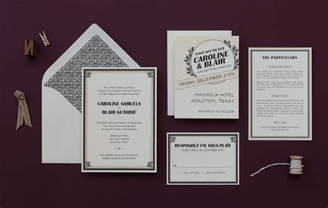 1920s wedding invitations ideas 1920s wedding invitation marquee by hellolucky deco